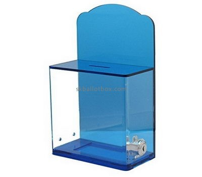 Customize plexiglass raffle ticket collection boxes BB-2371