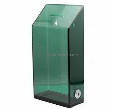 Customize plexiglass charity money collection boxes BB-2412