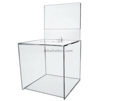 Customize acrylic clear suggestion box with lock BB-2434