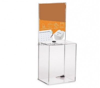 Customize lucite donation lock box BB-2528