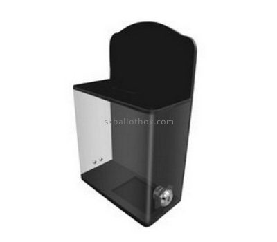 Small black acrylic ballot box with lock BB-2660