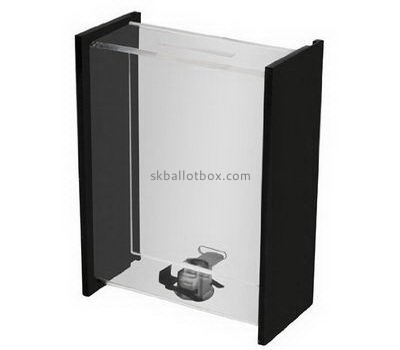 Narrow acrylic ballot box with lock BB-2670