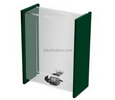 Custom narrow acrylic ballot box BB-2671