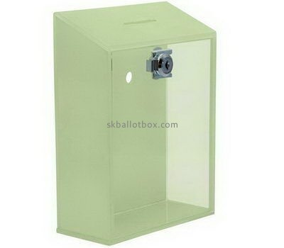 Custom wall green acrylic voting box BB-2677