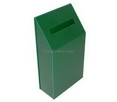 Custom green acrylic ballot box BB-2683