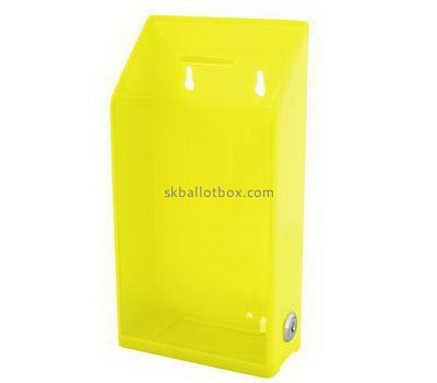 Customize wall mounted yellow acrylic ballot box BB-2687