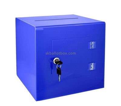 Customize blue acrylic ballot box BB-2697