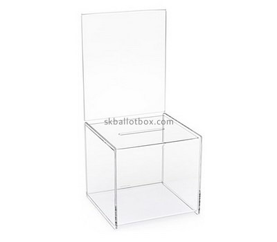Custom clear acrylic suggestion box BB-2718