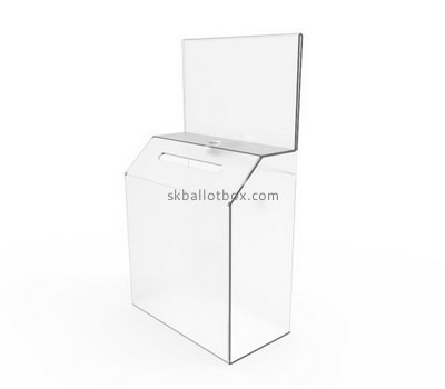 Custom clear acrylic suggestion box BB-2720