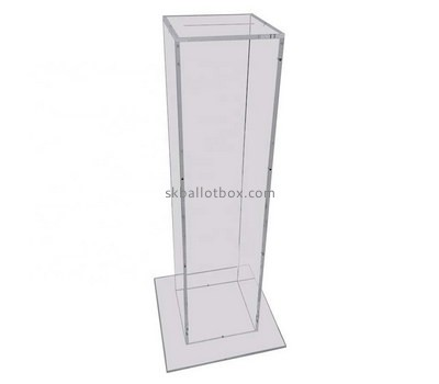 Custom floor standing clear acrylic ballot box BB-2726